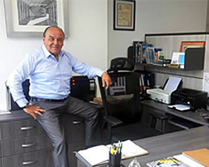 julio del risco our general manager and founder in his office